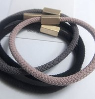 2019 South Korean hair rope textured G Mark copper tube does not fade Europe and America fashionable ornamenthair ring 0.5 * 1.2 cm VIP Gift