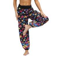 Wholesale bohemian yoga pants resale online - 2020 Summer Autumn Women s Printed Bloomers Beach Holiday Casual Pants Sports Yoga Pants Sunscreen Loose Trousers Bohemian