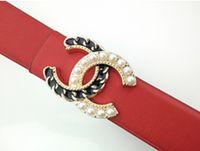 Wholesale decorative belts ladies resale online - Womens Designer Belts New Style Needle Free Smooth Buckle Womens Wide Belt Decorative Dress Coat All match Belt One Piece Ladies Designer399