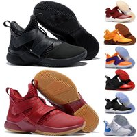 Wholesale mens basketball limited edition shoes resale online - Soldiers Limited Edition BHM Cavs Court General Mens Kids Basketball Shoes Sports Finals Black Gold Purple Sneakers