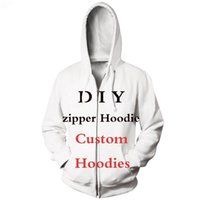 CLOOCL DIY Customize Personality Design Anime Photo Star Singer Pattern Zipper Hoodies 3D Print Men Women Streetwear Tops