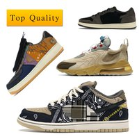 ups boites achat en gros de-Air Force 1 Low sb dunk Travis Scott Cactus Jack Air Max 270 Jordan 1 Retro designer shoes Man React ENG Sneaker Chaussures à lacets avec la boîte