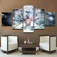 Wholesale art buddha paintings resale online - Modern Canvas HD Prints Pictures Wall Art Pieces Buddha Art Yoga Painting Tree Abstract Meditation Poster Home Decor Framework