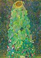 Wholesale sunflower abstract art paintings resale online - Gustav Klimt The Sunflower Canvas Painting Home Decor Handpainted HD Print Oil Painting On Canvas Wall Art Canvas Pictures