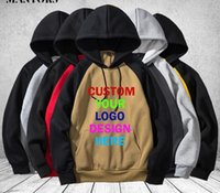 Wholesale custom team logos for sale - Group buy Custom Hoodie Men Women Lover Printing D Logo Personalized Team Family Customize Sweatshirt Polluver Customization Streetwear
