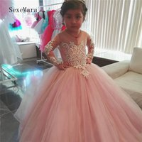 Wholesale school girl prom dress for sale - Group buy Customized Party Dresses for Girls Elegant Princess Dress Baby Birthday Dress Prom Evening Kids School Gown