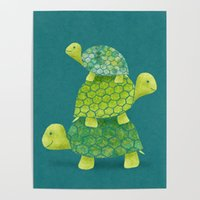 Wholesale three picture frame for sale - Group buy Three Cute Green Tortoise Animal Canvas HD Printed Poster Home Decor Painting Wall Art Picture For Living Room Modular Framed