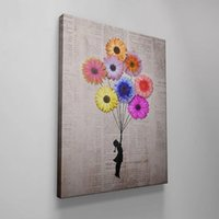 Wholesale balloon spray for sale - Group buy Poster HD Prints Modular Chrysanthemum Banksy Girl Balloon Wall Art Pictures Canvas Painting Home Decoration Living Room Frame