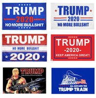 Wholesale print hanging resale online - 11 Colors Decor Banner Trump Flag Hanging cm Trump Keep America Great Banners x5 ft Digital Print Donald Trump Flags