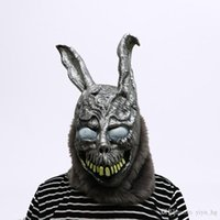 masque animal lapin achat en gros de-Masque Lapin Cartoon animal Donnie Darko FRANK Le lapin cosplay costume d'Halloween Party Supplies masque effrayant