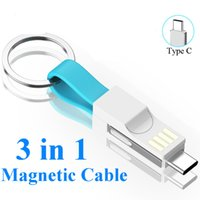 Wholesale 3 in 1 cable online – Type C in USB Cable Micro USB Type C Cable For Samsung HUAWEI A Mini Keychain Charger Charging Cables