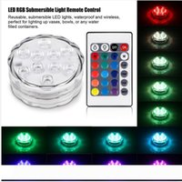 Wholesale battery operated submersible led lights for sale - Group buy 10leds RGB Led Underwater Light Pond Submersible IP67 Waterproof Swimming Pool Light Battery Operated for Wedding