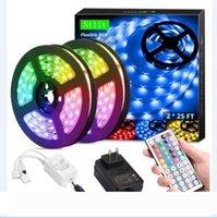 Wholesale static led lights resale online - Flexible RGB Light LED Strip Lights RGB Ft M SMD DC12V Flexible les strips lights LED meter Different Static Colors