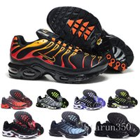 Wholesale ventilation running shoes resale online - 2019 New Running Shoes Men TN Shoes tns plus Fashion Increased Ventilation Casual Trainers Olive red blue black Sneakers Chausseures HIL