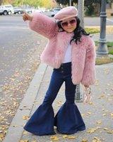 Wholesale kawaii kids clothes resale online - Fashion Baby jean toddler kids baby girls flare pants denim tassel clothes jeans pants kawaii jeans for girls kids conjunto infantil B424