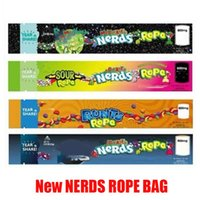 Wholesale hot food packaging for sale - Group buy HOT MEDICATED Nerds Rope Empty Packaging Bas Bag mg Nerdsrope Gummy Bags Three edge sealing foil Food package DHL free