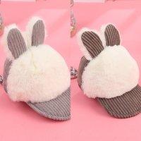 Wholesale fabric cat purses resale online - Imitation fur rabbit tu Er Tu ErCard rabbit ear cat ear coin purse female Korean cute plush key bag fabric card bag