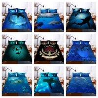 Wholesale hot 3d bedding set resale online - Hot Style Bedding Set d Digital Sharks Printing Duvet Cover Pillowcases Set with Zipper Closure UK AU US Size