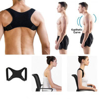 Wholesale sit belt for sale - Group buy Black Back Correction Belt Anti Hump Posture Corrector Adult Child Sit Position Orthosis Diving Fabric Micro Elasticity sm B2