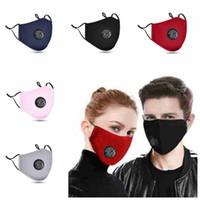Wholesale 5 styles face mask anti dust breathing valve masks adjustable washable reusable mouth masks pm2 masks CYZ2480