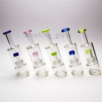 Wholesale 8 inch Colored glass bong accessories for dab smoke accessory Hookahs Global delivery