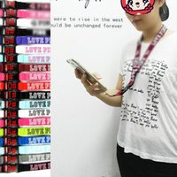 Wholesale dhl lanyard straps for sale - Group buy 19 Colors Love PINK Lanyards For Cell Phone ID Card Keychain Straps Detachable Hanging Good quality lanyard DHL