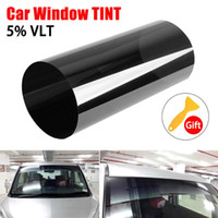 Wholesale window solar resale online - 150cmx20cm Black Car Window Foils Tint Tinting Film Roll Car Auto Home Window Glass Summer Solar UV Protector Sticker Films