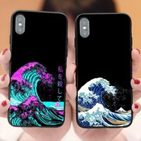 Wholesale iphones for sale - Group buy The Great Wave off Kanagawa Van Gogh Starry Night Cover case for iphones Pro Max s SE s plus X XR XS Max Luxury coque