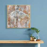 Wholesale dancing art oil painting resale online - Modern Abstract Dancing Girl Oil Painting on Canvas Posters and Prints Wall Art Pictures for Living Room Cuadors Decor No Frame