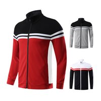 Wholesale men running jerseys for sale - Group buy Men Cardigan Coat Running Novelty Shirts Patchwork Outwear Training Jerseys Football Fitness Jogging Jackets