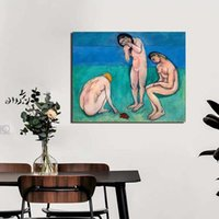 Wholesale three picture frame for sale - Group buy Home Decoration Three Women And Turtle Canvas HD Prints Poster Matisse Painting Wall Art Nude Modular Picture Living Room Frame