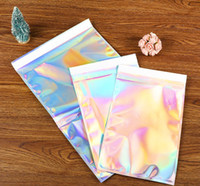 Wholesale plastic jewelry bag adhesive for sale - Group buy 50pcs Laser Self Sealing Plastic Envelopes Mailing Storage Bags Holographic Gift Jewelry Poly Adhesive Courier Packaging Bags