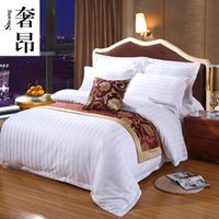 Wholesale satin quilt covers resale online - Hotel Bedding Encryption Hotel Satin Quilt Cover Cotton Pure White Quilt Cover Custom Add Box L Duvet Cover