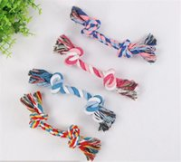 Wholesale garden tools supplies for sale - Group buy Hot Garden Home Pets toy dogs pet supplies Pet Dog Puppy Cotton Chew Knot Toy Durable Braided Bone Rope CM Funny Tool Random Color