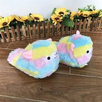 Wholesale animal house slippers for women for sale - Group buy Sweet Cartoon Alpacas Women Winter Home Slippers Warm Plush Indoor Shoes Anti Skid Flats House Floor Shoes For Female