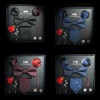 Wholesale executive gifts resale online - Men s tie business professional casual formal wear white collar executive Men s Tie set boyfriend gift box piece set