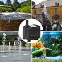 Wholesale 450L H W Submersible Aquarium Water Pump for Fish Air Tank Oxygen Oxygenator Fountains Pond Gardens Hydroponic Pumps