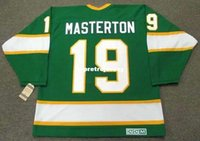 Wholesale north stars hockey for sale - Group buy Mens BILL MASTERTON Minnesota North Stars CCM Vintage Cheap Retro Hockey Jersey