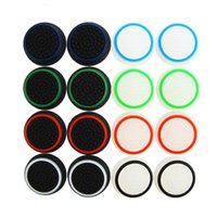 Wholesale thumb grip ps4 for sale - Group buy 2020 Dual Color Silicone Joystick Cap Thumb Grip Stick Grips Caps Case For PS4 PS3 Xbox one WiiU Controller DHL FEDEX EMS FREE