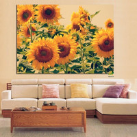 Wholesale sunflower abstract art paintings for sale - Group buy Nordic Classical Sunflower Oil Painting Scandinavian Flower Canvas Art Poster Prints Wall Pictures for Living Room Modern Home Decoration