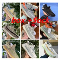 Wholesale free running v2 for sale - Group buy box high M reflective Sneakers V2 Running Shoes Yeezreel designer Shoes Yecheil Men Women Sports Trainers eur Yeshaya