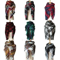 Wholesale snood resale online - Simple Contrast Color Fashion Scarf Soft Triangle Knitting Warm Snood Scarf Streetwear Neck Collar