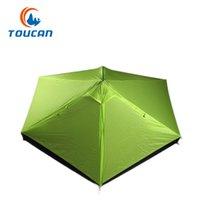 Wholesale aluminum figures resale online - Toucan Figure Orange Outdoor Ultra Light Hiking Tent Outdoor Double Layer Windproof and Rainproof Aluminum Pole Camping Mountaineering