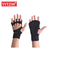 Wholesale compression glove for sale - Group buy Diving Cloth Exercise Gym Gloves For Protecting Palm Wrist Gel Silica Arthritis Skid Handguard Hand Compression Gloves