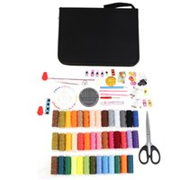 Wholesale stitching kit set resale online - 161pcs Set Sewing Kits DIY Multi Function Sewing Box Set Hand Bag Stitching Embroidery Thread Box DIY Tools