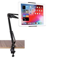 Wholesale long arm holder online – 360 Degree Rotation Long Arm Flexible Tablet Holder Cell Phone Stand Adjustable for Inch Devices
