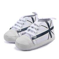 Wholesale shoes boys flag resale online - Cotton Baby Boys Girls Newborn Spring Autumn Sneakers Soft Cotton Bottom Sneaker Shoes for Baby Boys Girls Mi word Flag Shoes