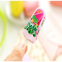 Wholesale pencils for kids resale online - 1PC Cute Ice Cream Eraser Kawaii Rubber Popsicle Pencil Erasers For Kids Girls Gift Back To School Supplies Novelty Stationery PC uy2008 pP