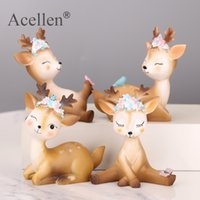 Wholesale fairy figurines for garden for sale - Group buy Cute Sika Deer Fairy Garden Miniatures Resin Crafts Animal Model Figurines for Home Desktop Car Decoration Ornaments Kids Gift T200710