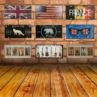 Wholesale native paintings for sale - Group buy Signs Metal Poster Metal Painting Tin Signs Native Fox Vintage Tintin License Plate Plaque Poster Bar Wall Decor Home Decoration